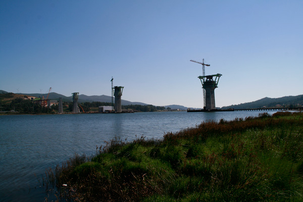 A ponte do AVE sobre o río Ulla, en Isorna (1/6)