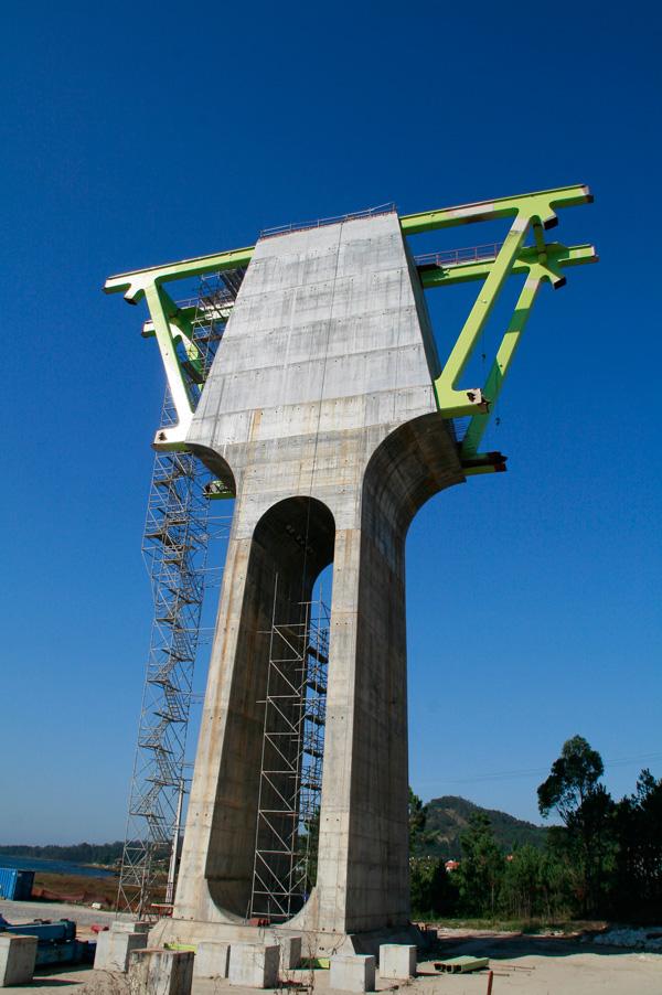 A ponte do AVE sobre o río Ulla, en Isorna (3/6)
