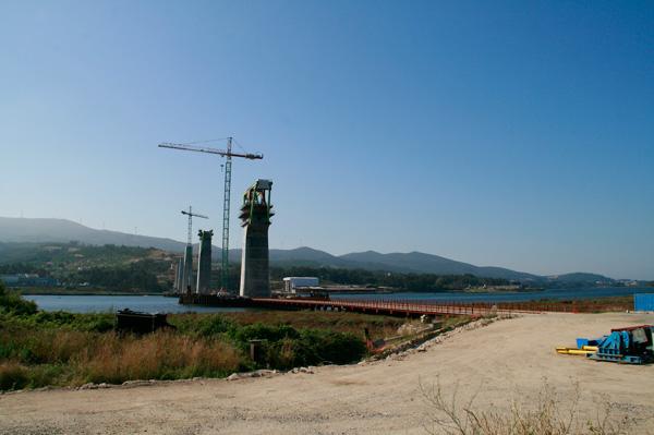 A ponte do AVE sobre o río Ulla, en Isorna (4/6)