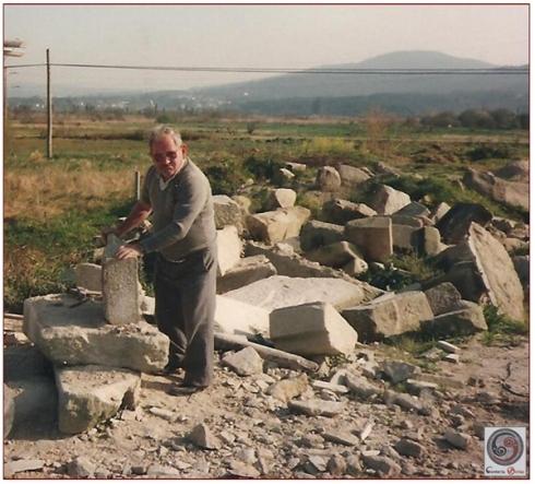 José o Golias, quen aos 18 anos xa tiña cuadrilla propia. Foto propiedade de Cantería Golias