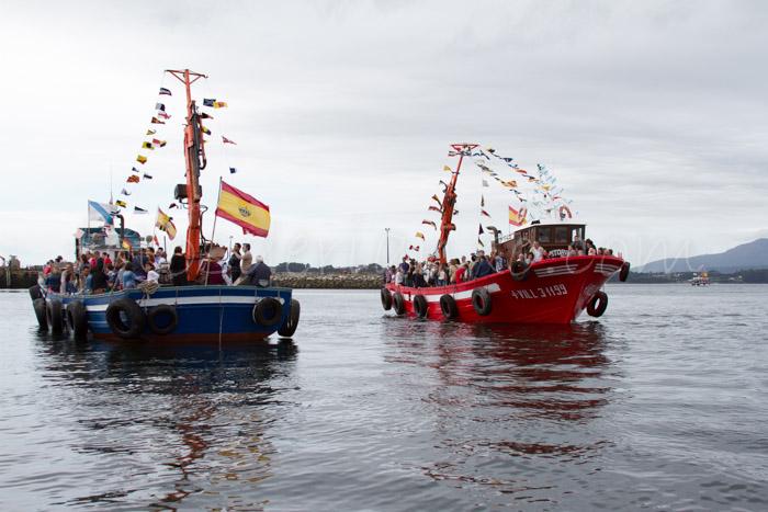 Fotos das festas da Guadalupe de Rianxo 2014: a procesión marítima (3/6)
