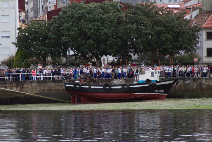 Fotos das festas da Guadalupe de Rianxo 2014: a procesión marítima (4/6)