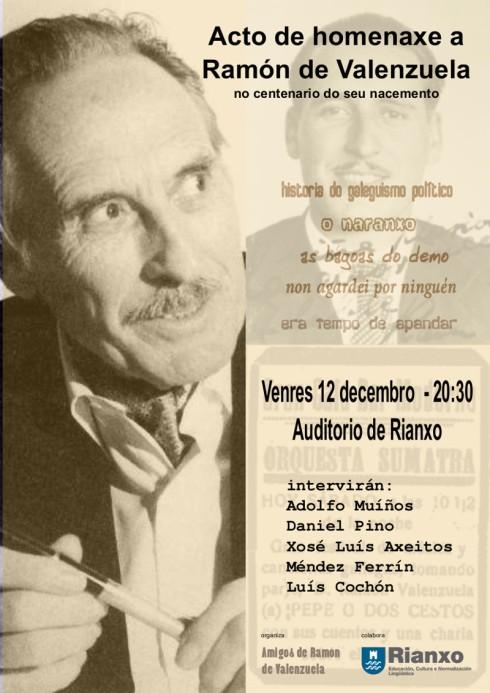 cartaz homenaxe ramon de valenzuela