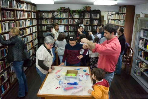 9Día da Biblioteca 2015, Nautico de Rianxo, Obradoiro de nudos mariñeiros24 de octubre de 2015